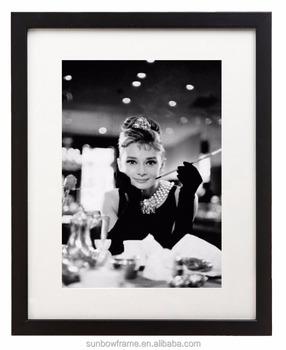 Audrey Hepburn Sexy Woman Wall Art Decor Printing Black White 8x10