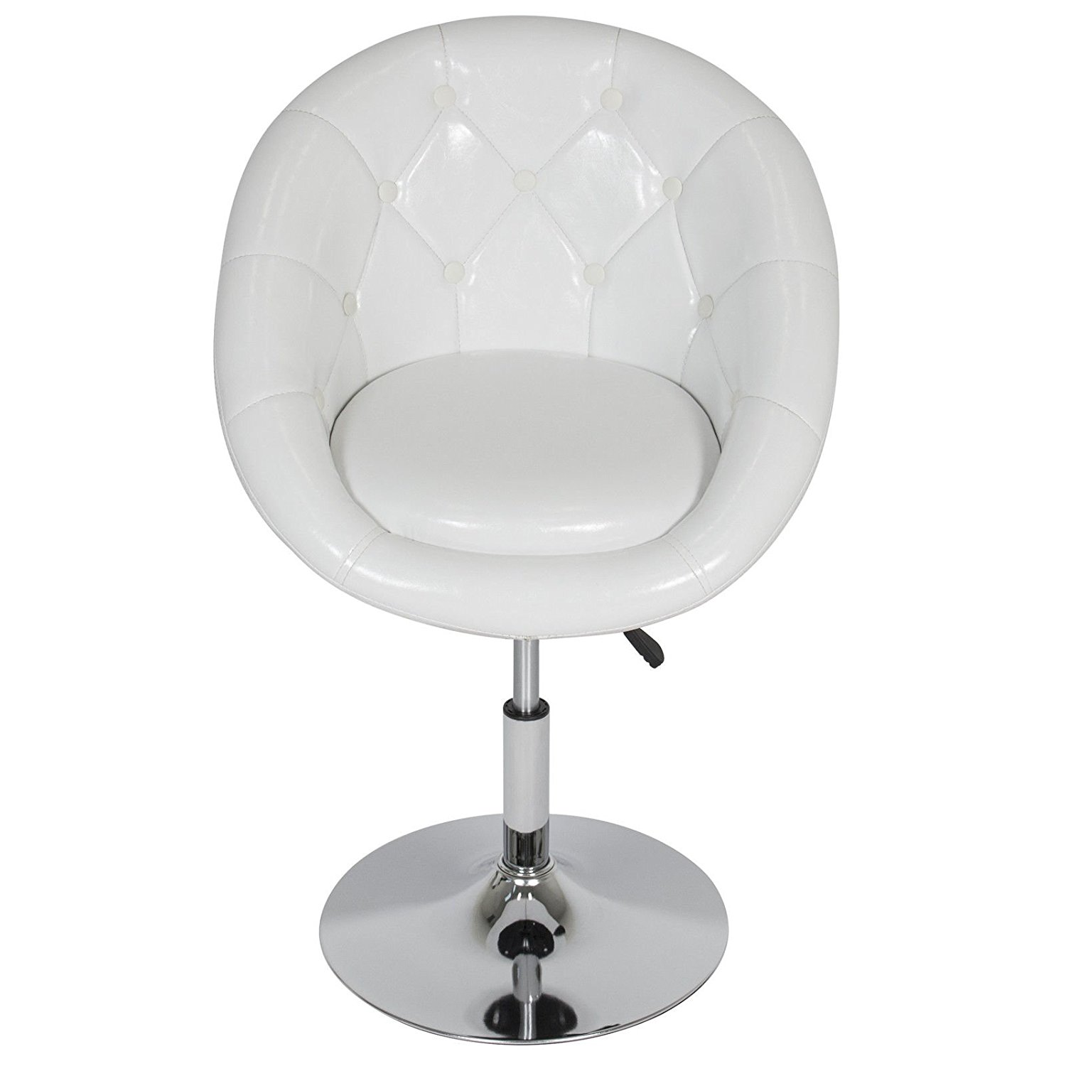Awe Inspiring Buy Ltl 1Pc White Adjustable Modern Swivel Round Tufted Gmtry Best Dining Table And Chair Ideas Images Gmtryco