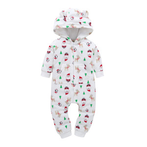 China Supplier Kids Christmas Polar Fleece Baby Outfit Romper Wholesale
