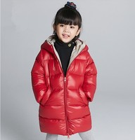Girl puffer down jacket shiny kids clothing winter