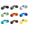 Lightweight Rimless Pilot TAC Polarized Optical Frame Clip On Flip Up Sunglasses