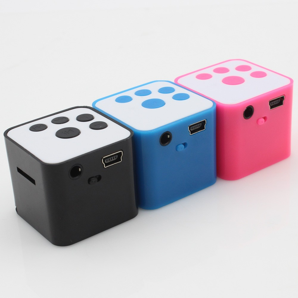 Factory Directly Sale Portable Mini Square Magic Cube MP3 <strong>Player</strong> With Speaker Function Support TF Card For Media Music Leisure