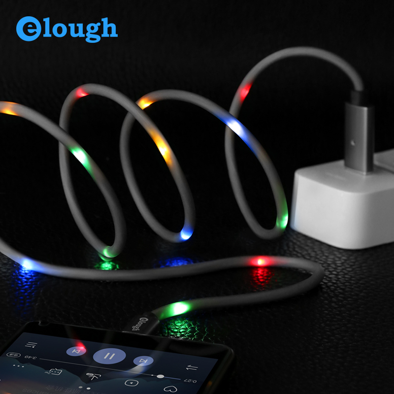 Mobile Phone Accessories Voice Control Dancing LED usb cable sync 2A fast charging 8 pin cable for iphone 7 8 X фото