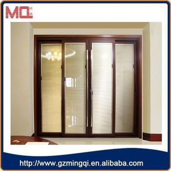 Luxurious Aluminum Double Glass Folding Doors Entry Doors Wholesale