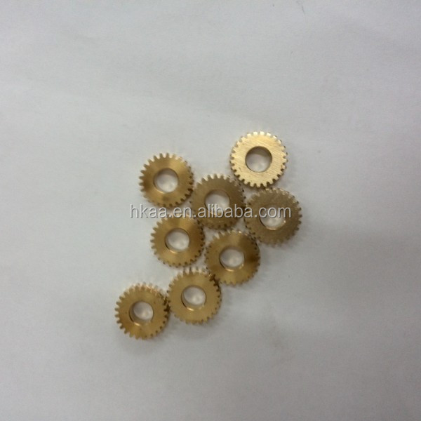 Custom high precison brass micro spur gears for flowmeter