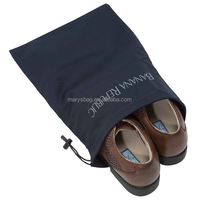 easy-care polycotton shoe bag with drawstring cord