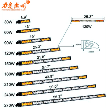 LITU 2020 Single Row Led Light Bar with Straight Driving Led Light 30w 60w 90w 120w 150w 180w 240w 270w