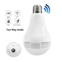 Hot Sale Good Price 960P/1080P/3MP/5MP Wireless Hidden Panoramic Camera Fisheye 360 Light Bulb CCTV Camera