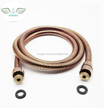 Flexible Bathroom Rose Gold Shower Hose Stainless Steel Explosion-proof hose