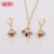 22K Gold Jewellery With Lady Model Dubai Wholesale Women Jewelry Set Price In Jewelry