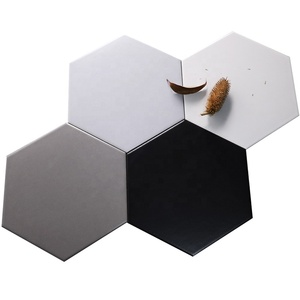 New arrivals modern wall bathroom kitchen ceramic honeycomb hexagon shaped tiles non-slip floor tiles
