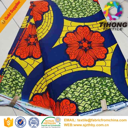 2017 new style africa cotton batic wax fabric
