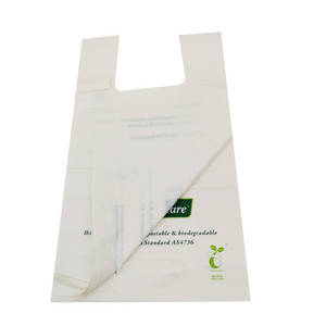 corn starch made biodegradable supermarket plastic carry shopping bags design with low price
