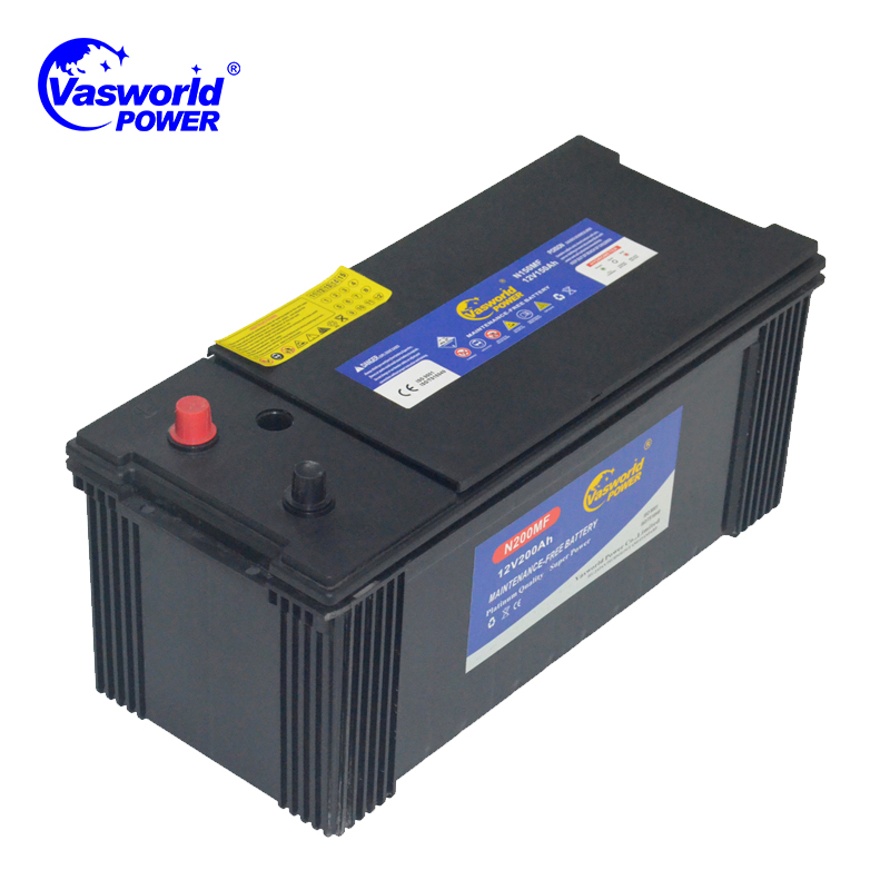 12V 200Ah MF Dry charged Truck and Tractor Battery with High CCA