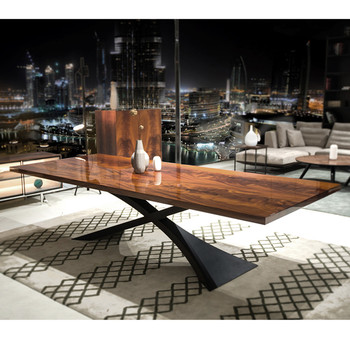 2015 Diseño Moderno Comedor Muebles De Caoba Mesa De Comedor De ...