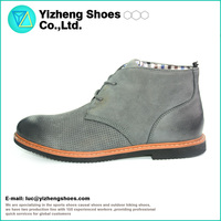 2016 Genuine leather rubber outsole comfortable casual chelsea boots for men
