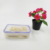 Safe Microwavable BPA Free Square container airtight plastic crisper for food