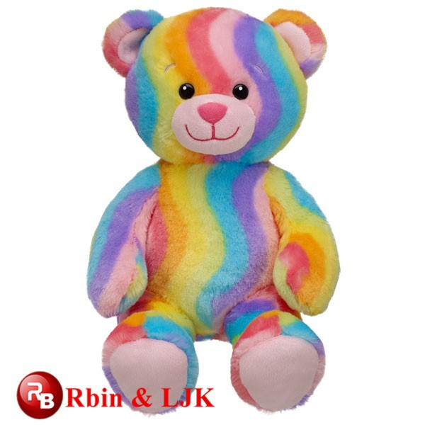 Oem Soft Good Quality Rainbow Teddy Bear - Buy Rainbow Teddy Bear ...