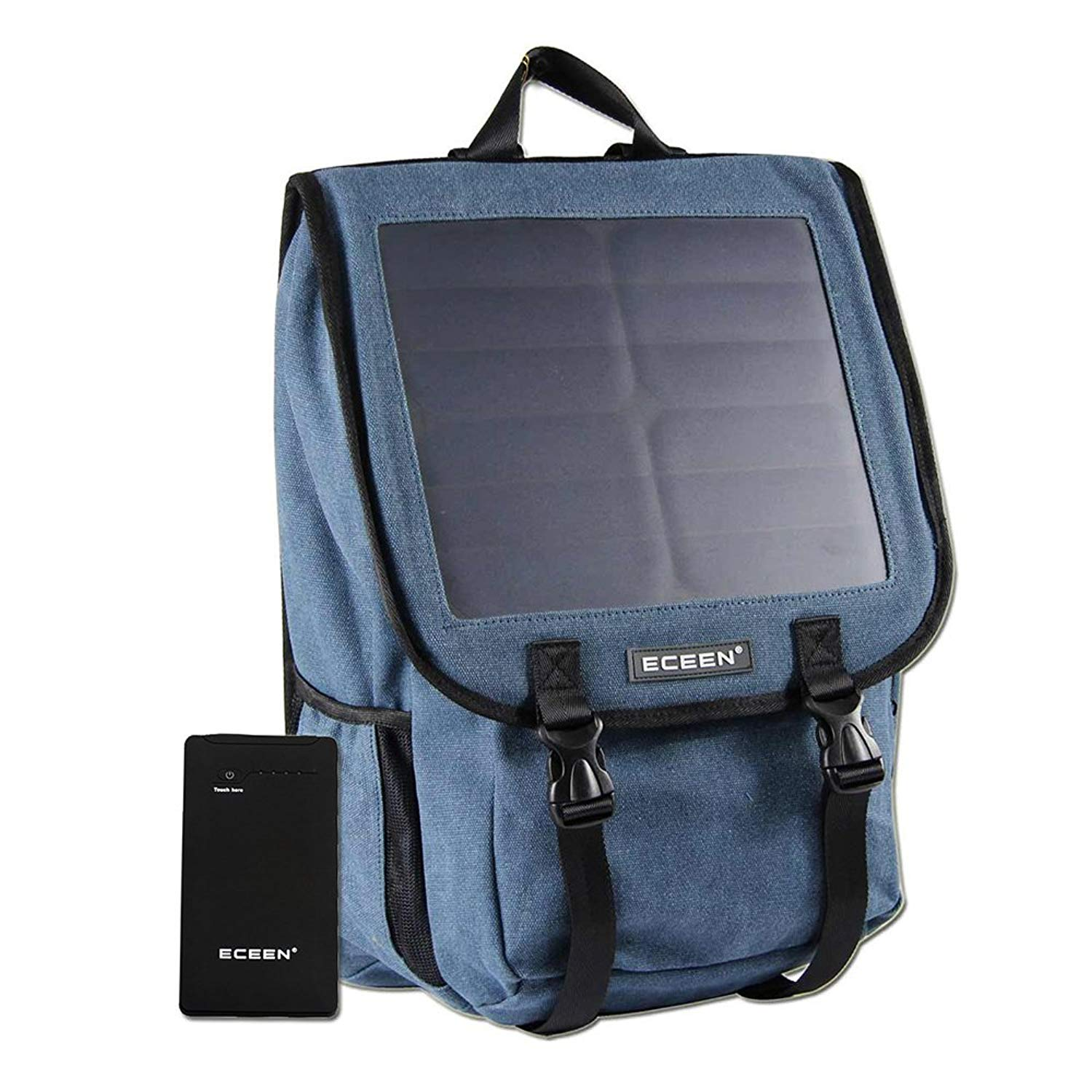 Solar Powered Backpack with High Efficiency Solar Panel Bag Solar Charger Pack with Voltage Regulate Charging For iPhone, iPad, SAMSUNG, Gopro Cameras etc. 5V Device