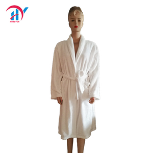 Women's Ultra Soft 100% Flannel Bathrobe Luxury Shawl Collar Spa Robes