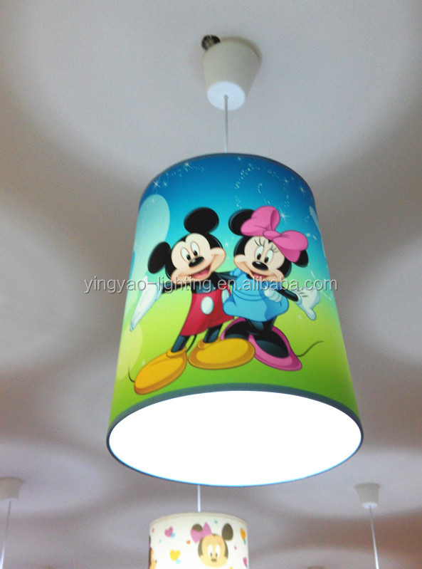 Mickey Mouse Colored Cartoon Fabric Home Goods Lamp Shades For Kits ...