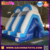 2016 China two lanes commercial inflatable pool bule slide