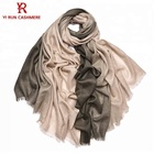 New fashion C0912034 green and white cashmere scarf shawls