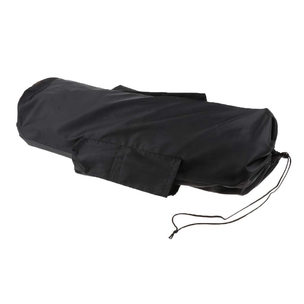 MagiDeal Dustproof Waterproof Drawstring Sack Bag with Side Pockets & Strap for Storing Folding Camping Mat Yoga Mat Picnic Mat