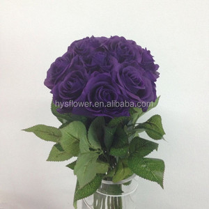 life-like purple roses wedding venus roses bridal bouquet roses artificial small purple flowers