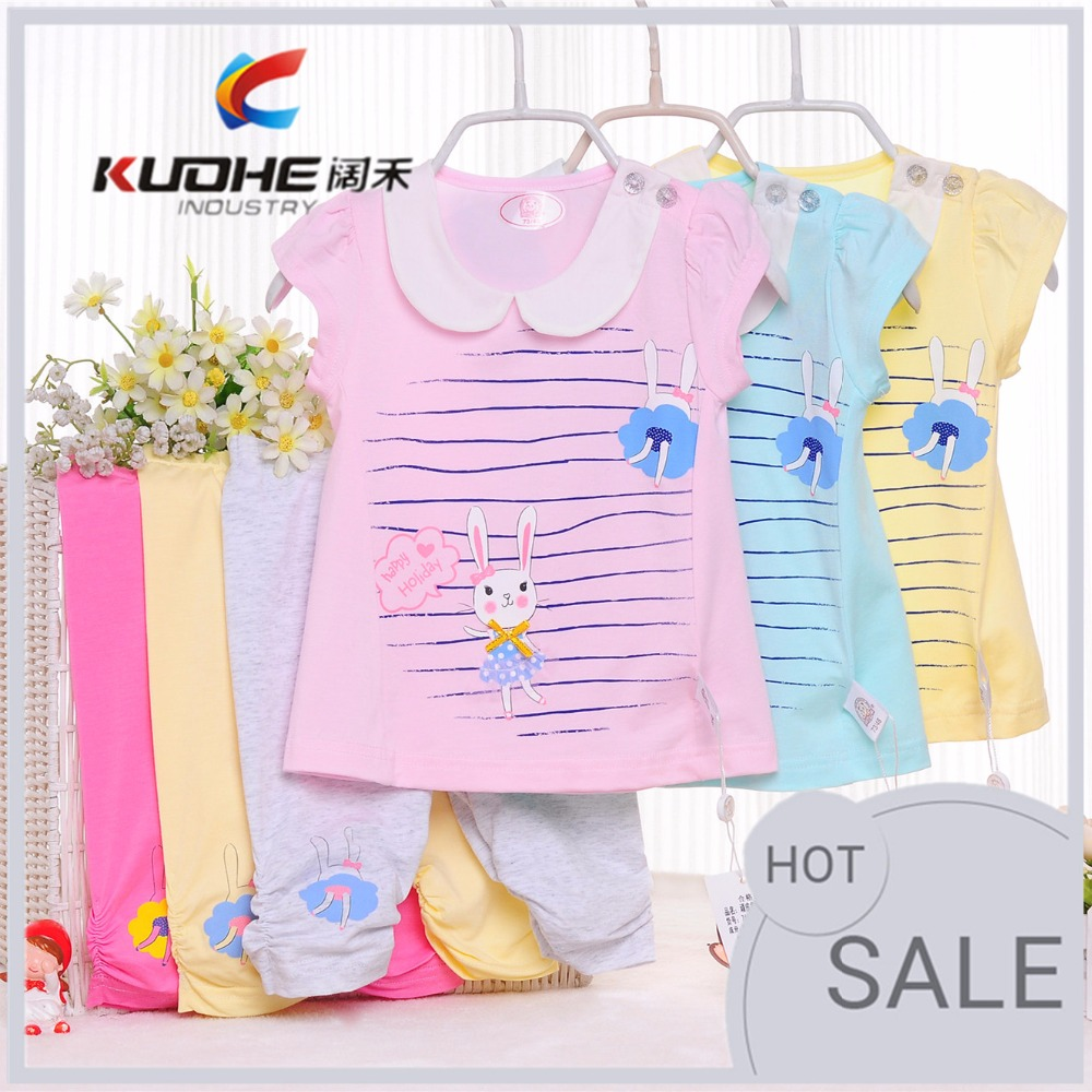 cheap hot sale 100% cotton soft kid baby girl clothes summer baby clothing