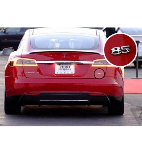 "Tesla Wallpapers Group 85: Silver Color Number ""85"" 3D Rear Number Sticker Car"