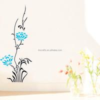 Vinyl Mural Art Vinyl Mural Art The third generation wall stickers blue lotus For Living Room For Living Room JM8038
