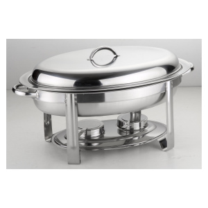 6.8L Oval Economic Chafing Dish Stainless Steel Petri Dish Chafing Dish Set