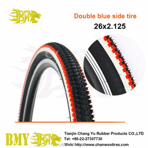 Red side and white line colored side bicycle tire 20*1.95