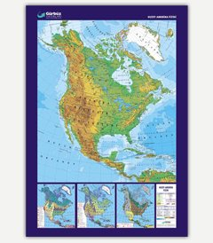 North America Physical Map - Buy Wall Map Product on Alibaba.com