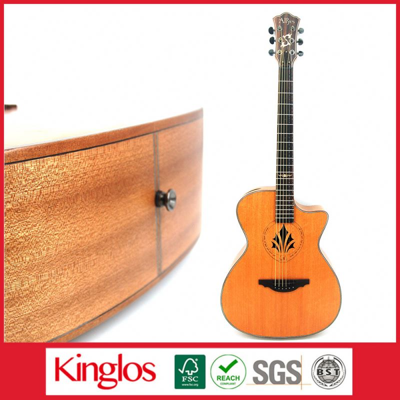 Popular Artistic Color Acoustic Guitar Solid Spruce With Tune Woodhexagon spanner Made in China (S41U-010-008)