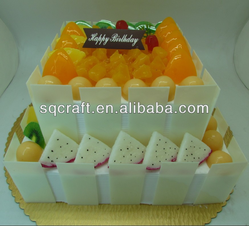PVC birthday cake with ROSE model for shop sample display/birthday cake in real 1:1 size/ LOVE birthday cake