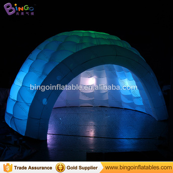 Color light inflatable igloo dome tent for stage background props & Color Light Inflatable Igloo Dome Tent For Stage Background Props ...