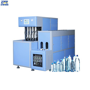 4 Cavities Automatic PET Bottle Blowing Machine Blow Moulding Plastic Smart Machinery And Mold