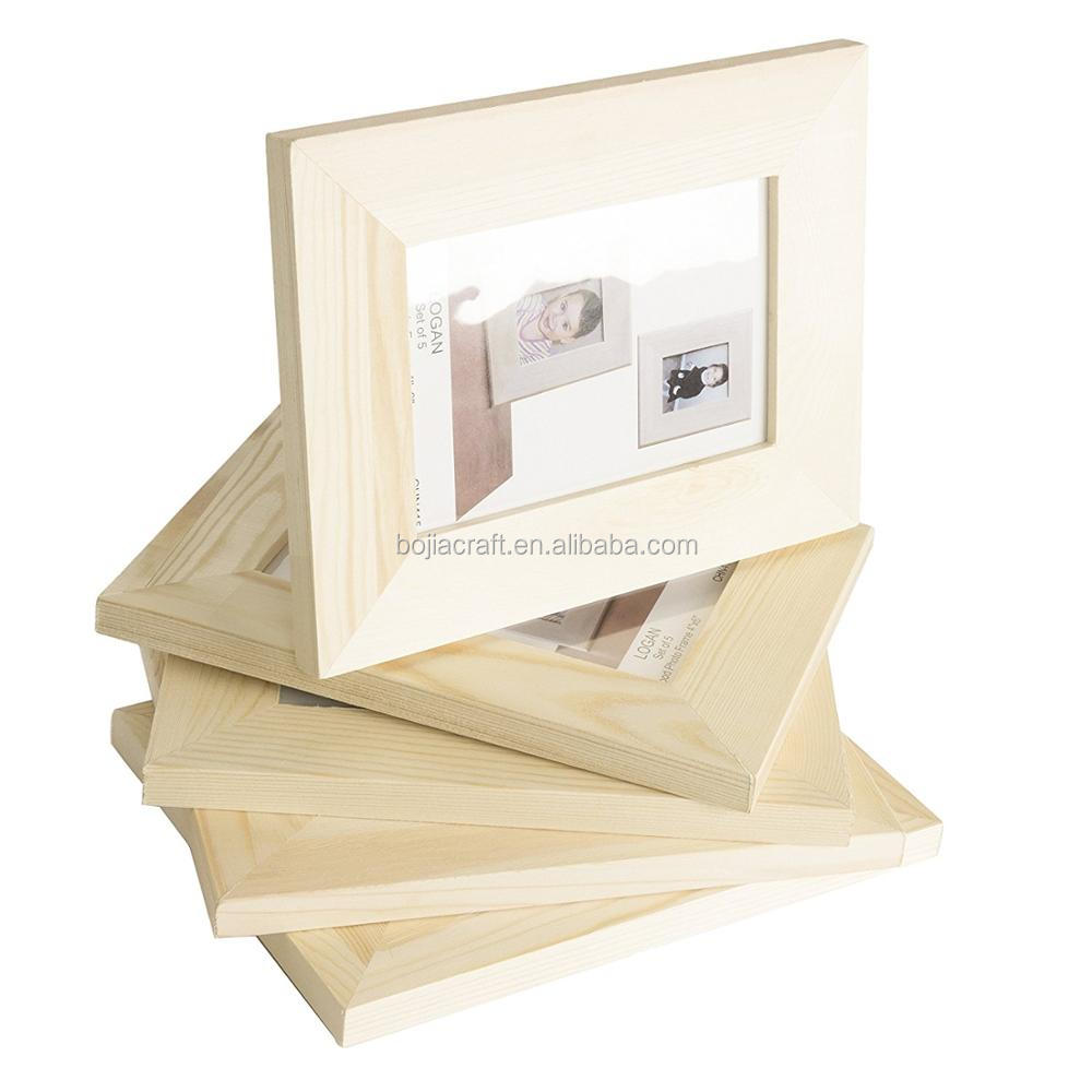 New Wooden Photo Frame Wood Frame Box Baby Handprint and Footprint Reagent Box Wood Photo Frame