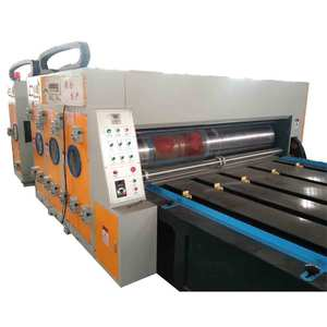 Full automatic 4 color Flexo Printer Slotter Die Cutting Machine