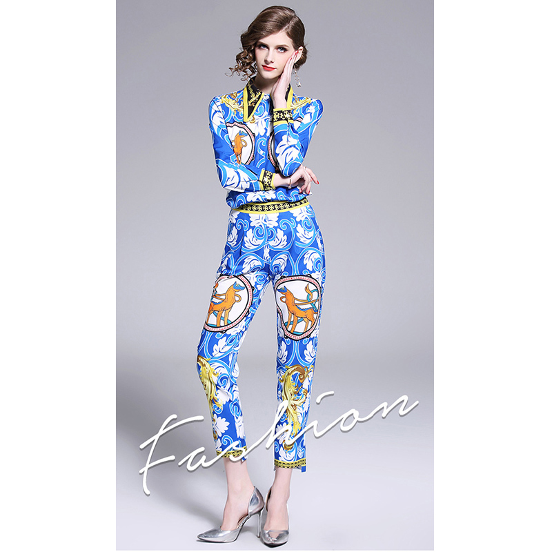 New Fashion Printing Zweiteiler Damen Kleidung