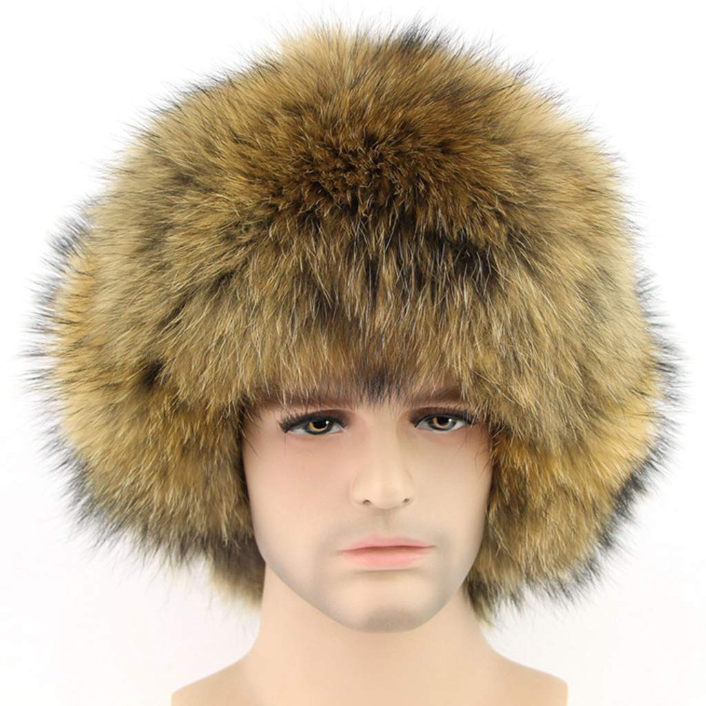 Winter Trooper Hat Silver Fox Leifeng Winter Warm Hats Thick Fur Mens Winter Hat