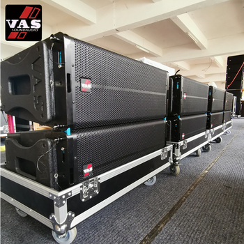 Vasound LA-5A Dual 10 inch Two Way Active Line Array Powerful for Outdoor Concert