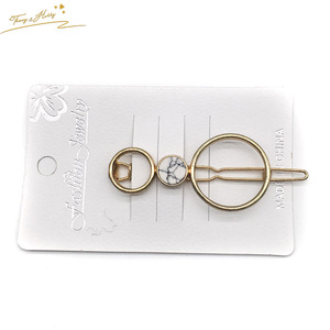 Newest Alloy Hairpins Lip Circle Hair Pin Jewelry Hairgrips Metal Hair Clip For Women Hair Clip