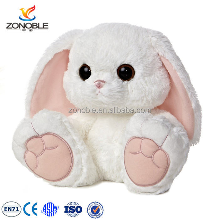 Factory making funny plush easter bunny wholesale long ear stuffed plush bunny