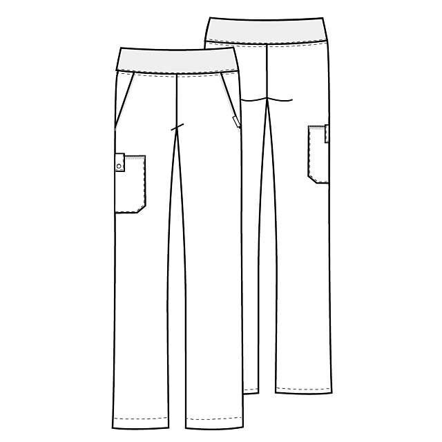 Medical Poly/Cottor Uniforms Work Pants used in Hospital
