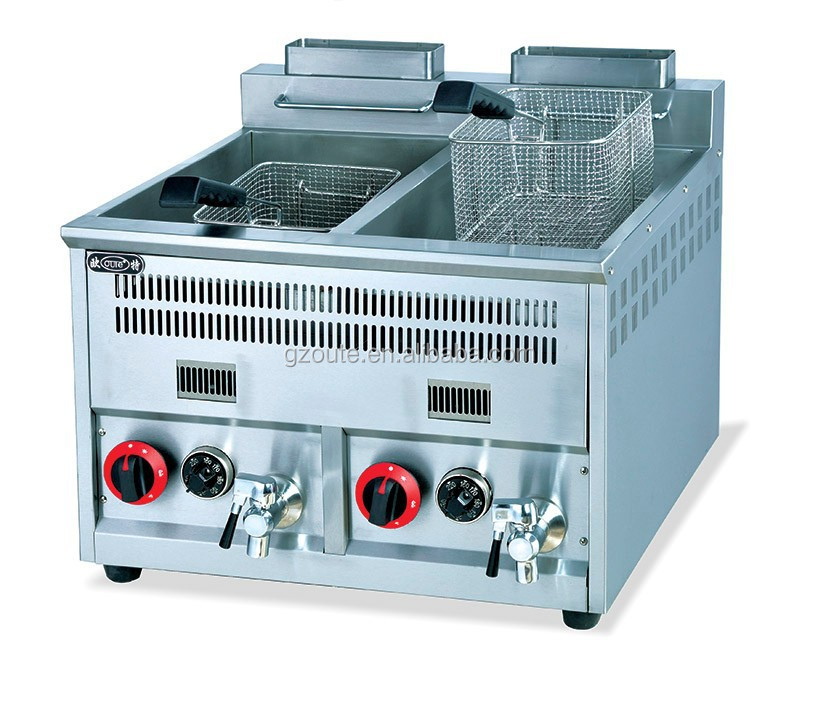 New design automatic KFC potato chips gas frying machine with frying machine chicken(SOT-8+8)