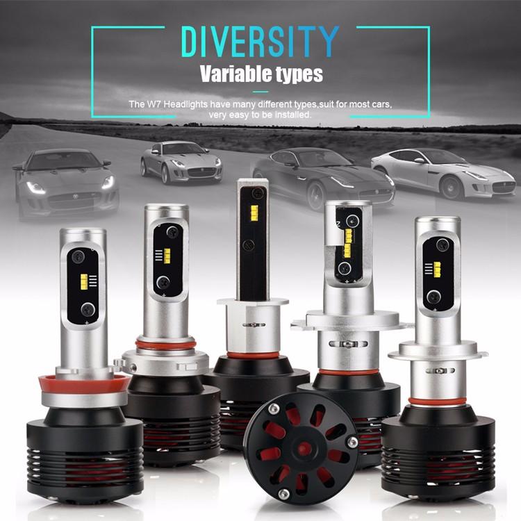 2018 Hle New Design H7 Led Car Headlight Kit 30w 4800lm Auto Car Led  Headlight Bulbs 12v - Buy Led Headlight Bulbs 12v,H7 Led High Lumen,Led Car