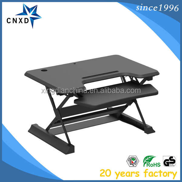 Folding adjustable large laptop computer table sit stand desk for monitor and imac
